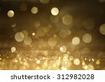 christmas gold background.  | Shutterstock . vector #312982028