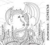 Mystery Dragon Coloring Page I...