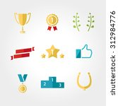 win set icon  award  prize cup...   Shutterstock .eps vector #312984776