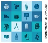 school and education icon set.... | Shutterstock .eps vector #312998000