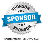 sponsor 3d silver badge with...   Shutterstock .eps vector #312999563
