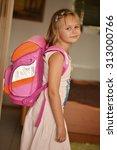 Happy Little School Girl