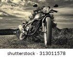 freedom.motorbike under sky | Shutterstock . vector #313011578