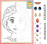 cartoon woman   face  ... | Shutterstock . vector #313016519