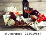 still life with various types... | Shutterstock . vector #313019564