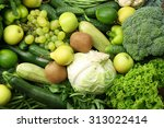 Green Fruits And Vegetables...
