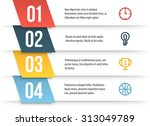 simple vector numbered list... | Shutterstock .eps vector #313049789