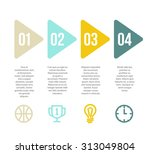 clean vector background with... | Shutterstock .eps vector #313049804