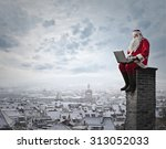 technological santa claus | Shutterstock . vector #313052033