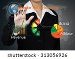 business woman showing... | Shutterstock . vector #313056926