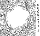 Floral Hand Drawn Zentangle...