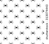 seamless background with spider ... | Shutterstock .eps vector #313074443