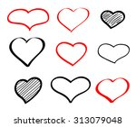 abstract hand drawn vector... | Shutterstock .eps vector #313079048