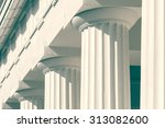vintage columns architecture of ... | Shutterstock . vector #313082600