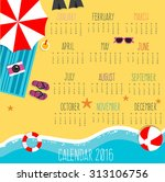 Calendar For 2016 With On The...