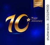 10 years decorative golden... | Shutterstock .eps vector #313109030