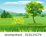 summer landscape with mountains | Shutterstock .eps vector #313115174