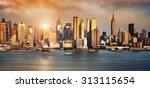 new york city skyline with... | Shutterstock . vector #313115654