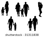 silhouettes of parents and... | Shutterstock .eps vector #31311838