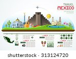 info graphics travel and... | Shutterstock .eps vector #313124720