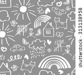 children's painting background  ... | Shutterstock . vector #313138958