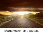 street leads into sunset | Shutterstock . vector #313139336