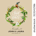 save the date invitation design ... | Shutterstock .eps vector #313141586
