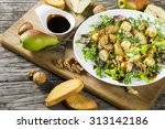 vegetarian salad with grilled... | Shutterstock . vector #313142186