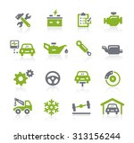 car service icons    natura... | Shutterstock .eps vector #313156244