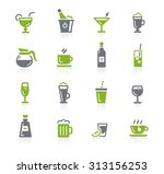 drinks icons    natura series | Shutterstock .eps vector #313156253
