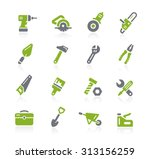 tools icons    natura series | Shutterstock .eps vector #313156259