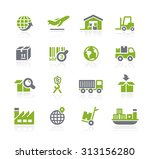 industry and logistics icons    ... | Shutterstock .eps vector #313156280