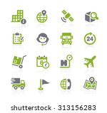 shipping and tracking icons   ... | Shutterstock .eps vector #313156283