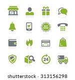 e shopping icons    natura... | Shutterstock .eps vector #313156298