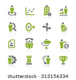 business strategies icons   ... | Shutterstock .eps vector #313156334