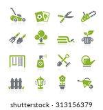 gardening icons    natura series | Shutterstock .eps vector #313156379