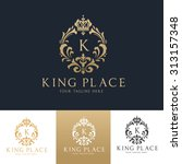 king place boutique brand real... | Shutterstock .eps vector #313157348