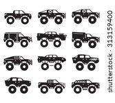 monster trucks vector set  | Shutterstock .eps vector #313159400