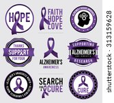 a set of alzheimer's disease...   Shutterstock .eps vector #313159628