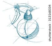 spray trigger  atomizer ...   Shutterstock .eps vector #313168334