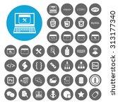 web development icons set. html ... | Shutterstock .eps vector #313177340