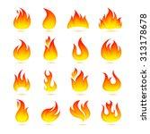 fire campfire bonfire hot flame ... | Shutterstock . vector #313178678