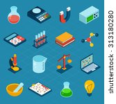 isometric science 3d icons set... | Shutterstock . vector #313180280