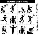 Disabled Sports Black Pictogra...