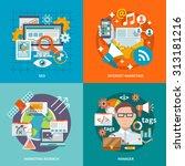 seo internet marketing design...   Shutterstock . vector #313181216