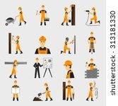 construction worker character... | Shutterstock . vector #313181330