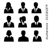 business avatars set with males ... | Shutterstock . vector #313181879