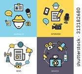 news reporter design concept... | Shutterstock . vector #313182680