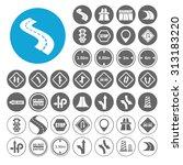 highway icons set. illustration ... | Shutterstock .eps vector #313183220