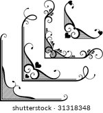set of ornamental floral corners | Shutterstock .eps vector #31318348